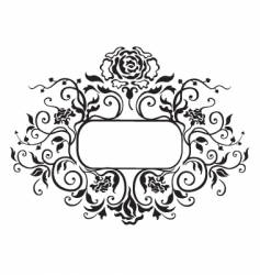 Frame floral elements vector