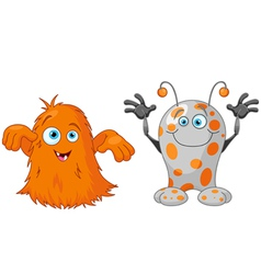 Two cute little monsters vector