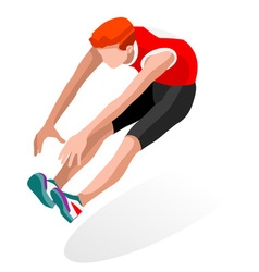 Athletics jump 2016 sports 3d isometric vector