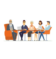 business meeting - modern cartoon vector image vector image