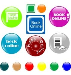 button book vector image vector image