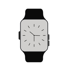 Classic analog watch wearable technology vector