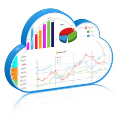 Cloud business process management concept vector image vector image