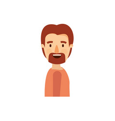 Colorful caricature side view man with moustache vector