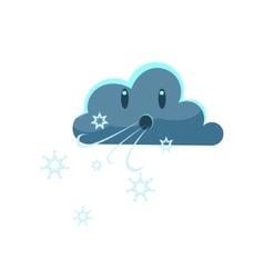 Dark cloud blowing cold wind vector