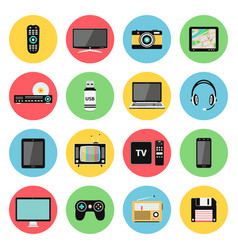 Electronic devices technology gadgets icons vector
