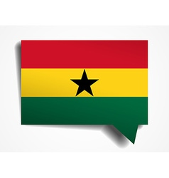 Ghana paper 3d realistic speech bubble on white vector