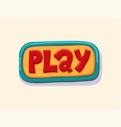 Hand drawn play web button internet button vector