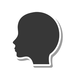 Head profile silhouette isolated icon vector