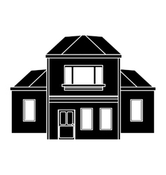 House traditional detailed modernn pictogram vector