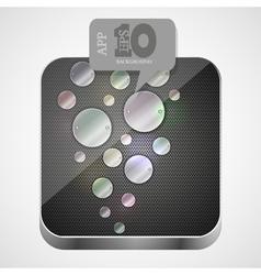 Metal app icon vector image
