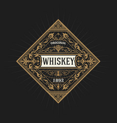Old whiskey label vector