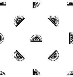 pizza oven with fire pattern seamless black vector image vector image