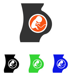 Pregnant woman flat icon vector