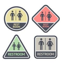 Restroom flat symbols set vector