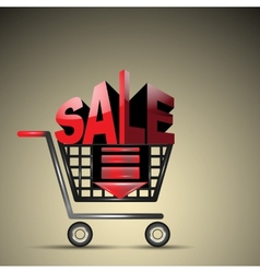 Sale cart vector image