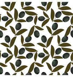 Seamless texture with olive fruits vector image vector image