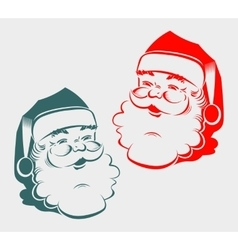 silhouette of the head Santa Claus vector image vector image