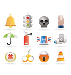surveillance and security icons vector image vector image