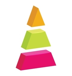 Triangle divided icon cartoon style vector