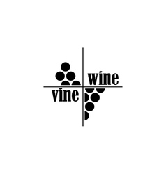 wine and vine sing or symbol vector image