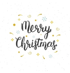 Merry christmas hand written modern brush vector