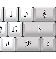 Musical notes keyboard vector image