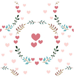 Love seamless pattern retro style with hearts vector