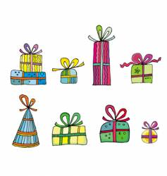 Cute colorful presents vector