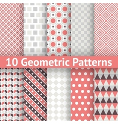 Geometric patterns tiling set of seamless vector