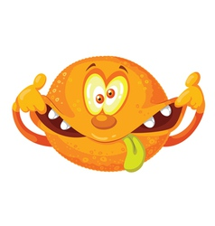 Crazy orange vector