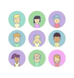 Modern avatars vector image