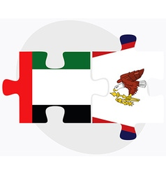 United arab emirates and american samoa flags vector