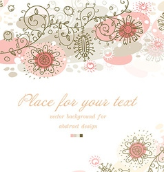 Cute pastel floral design vector