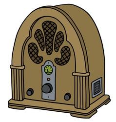 Vintage vacuum tube radio vector image