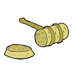 Comic cartoon gavel vector