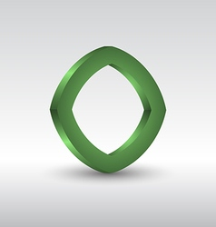 Abstract square 3d green logo vector