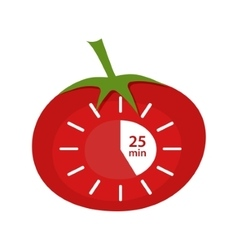 Classic pomodoro timer icon technique vector