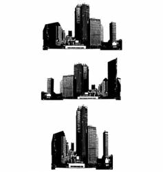 Skyscrapers vector