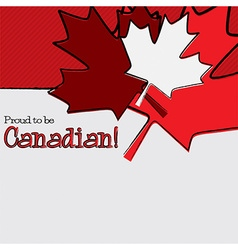 Hand drawn maple leaf canada day card in format vector