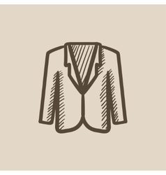 Male jacket sketch icon vector