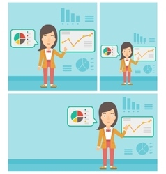 Businesswoman making business presentation vector