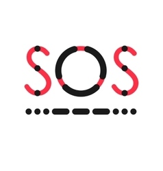 Sos symbol in international morse code vector