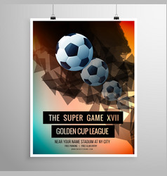 Abstract football soccer game flyer template vector
