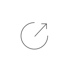 Arrow out of circle icon vector
