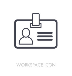 badge outline icon workspace sign vector image vector image