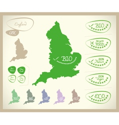 Bio map uk england vector
