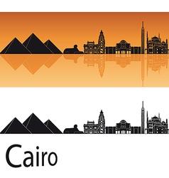 Cairo skyline in orange background vector