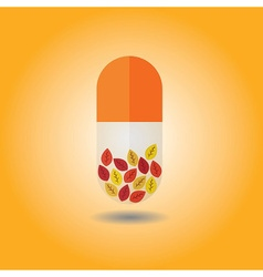 Capsule icon vector image vector image
