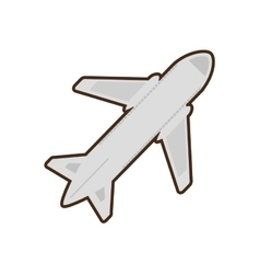 cartoon airplane travel business vacation vector image